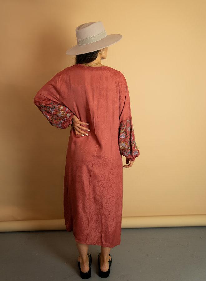 Make My Day Embroided Kimono Dress