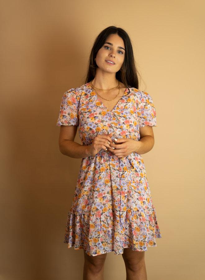 Make My Day Mini Wrap Dress Short Sleeve