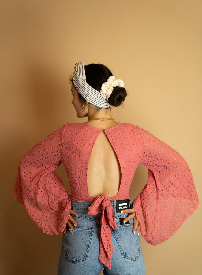 Make My Day Short Top With Flared Sleeves