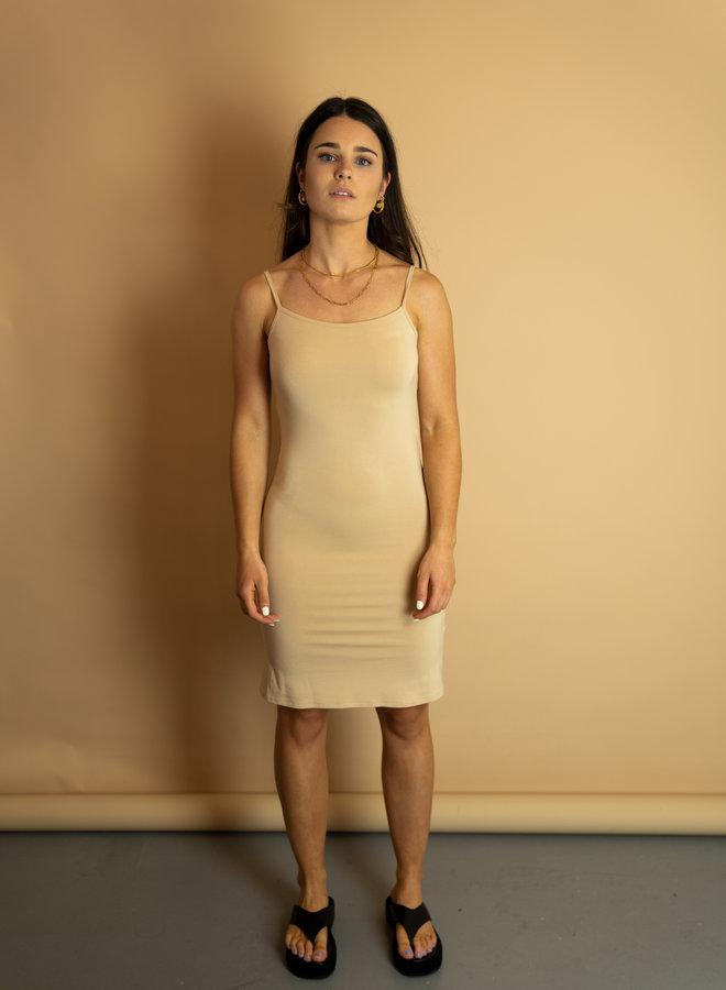 Make My Day Nude Slip Dress