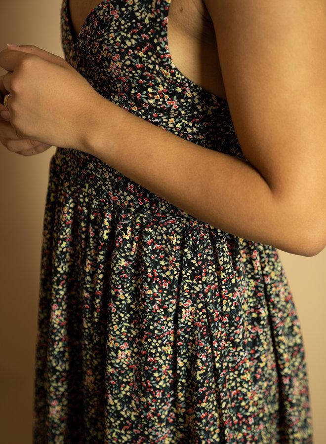 Make My Day Sleeveles Flower Dress