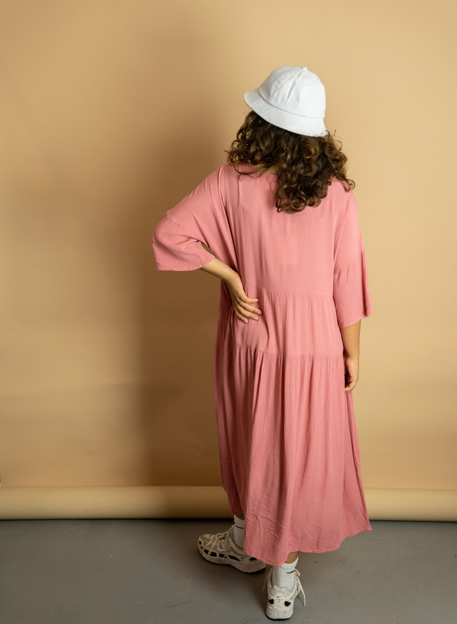 Make My Day Wide Dress With V-neck