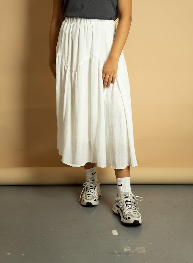 Make My Day Wide Cotton Midi Skirt