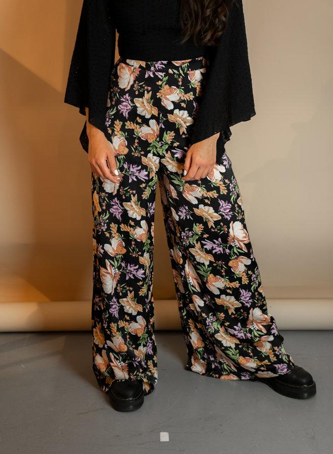 Make My Day Wide Leg Flower Pants