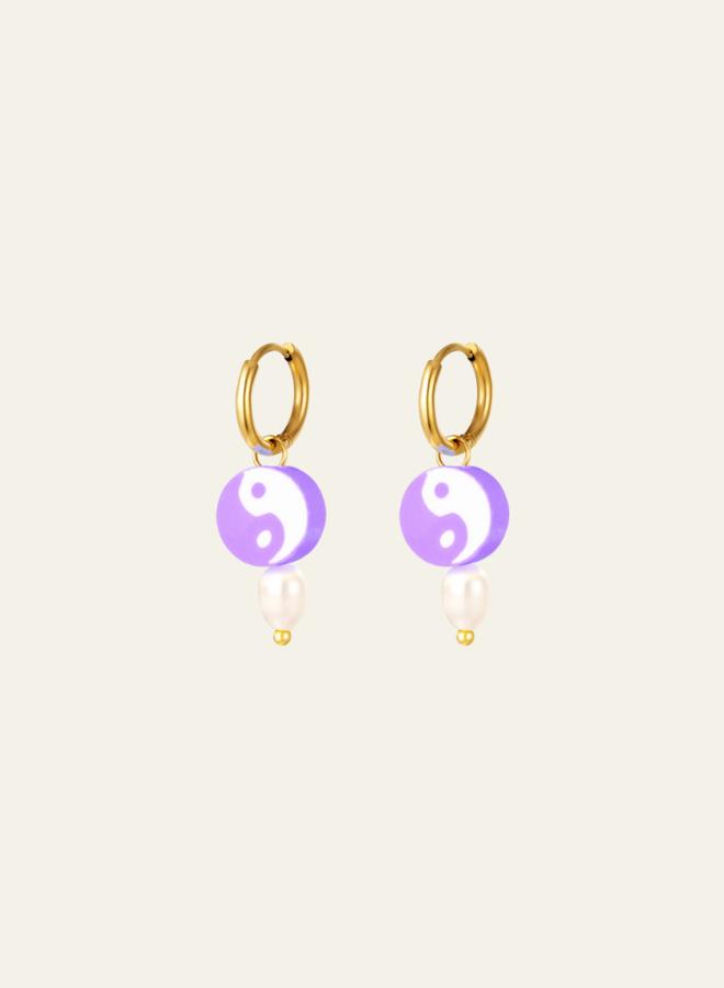 Make My Day Yin Yang Earring