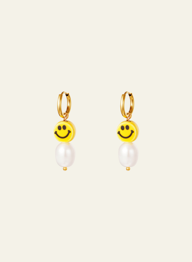 Make My Day Smiley earring