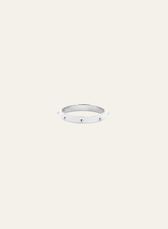 Anna Nina Dolly Ring White Silver