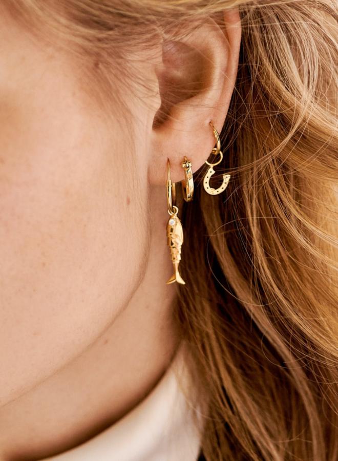 Anna Nina Horseshoe Charm Earring