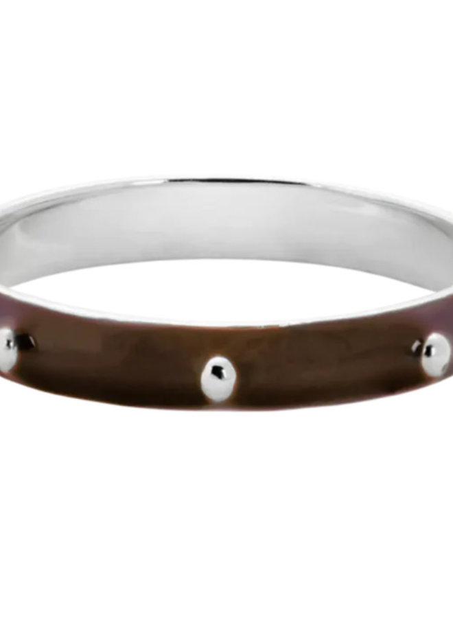 Anna Nina Dolly Ring Brown Silver