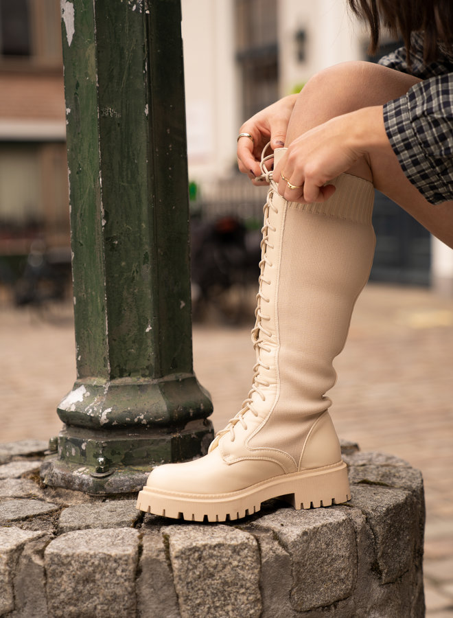 Make My Day High Lace Up Boots