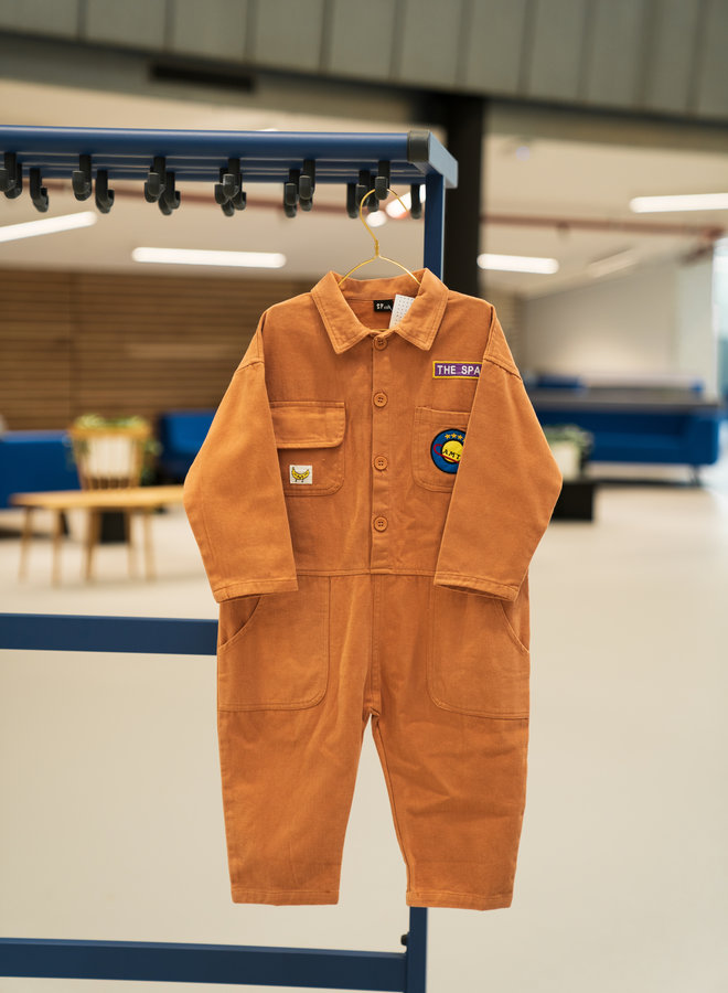 Little Occasion Oversized Embroided Overall
