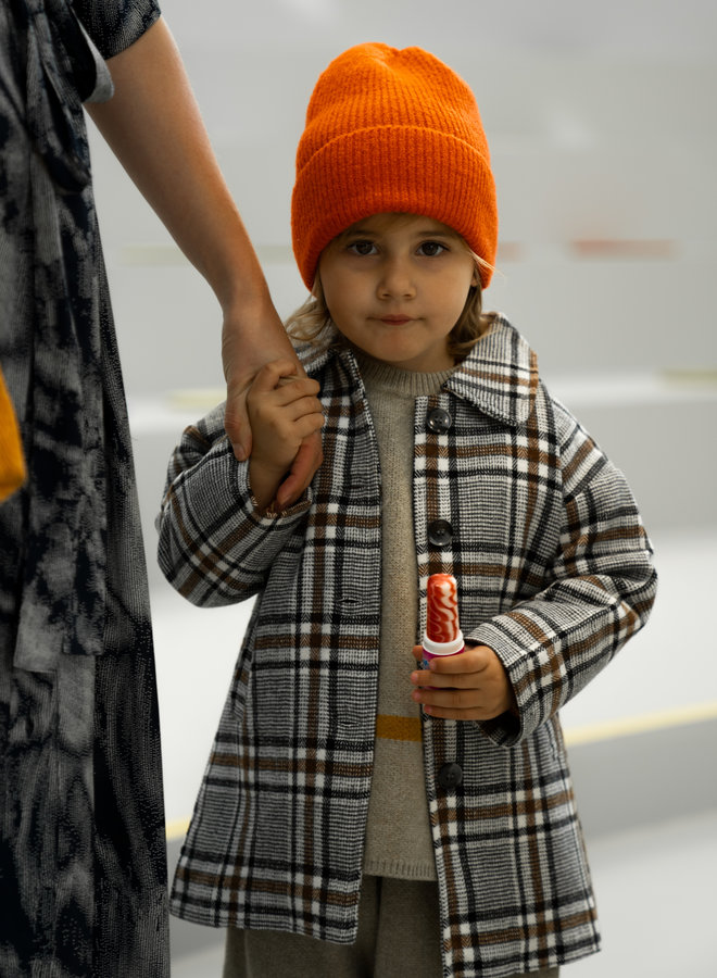 Little Occasion Plaided Long Coat