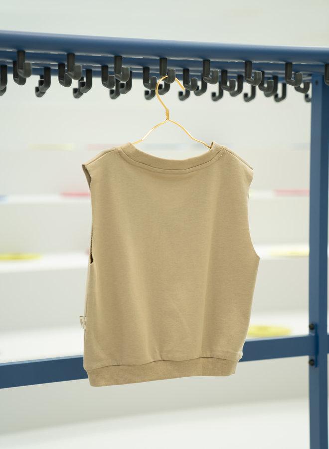 Little Occasion 2-Piece  Khaki Vest + Sweatpants
