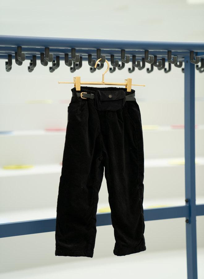 Little Occasion Thick Corduroy Pants + Waist Bag Belt