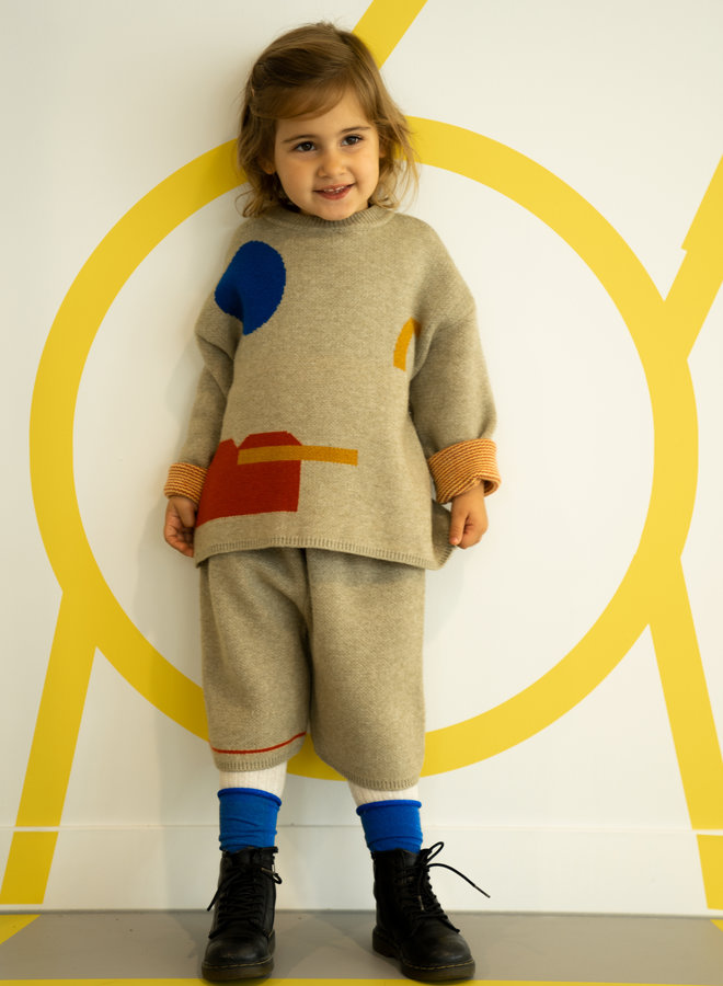 Little Occasion 2-Piece Geo Sweater + shorts
