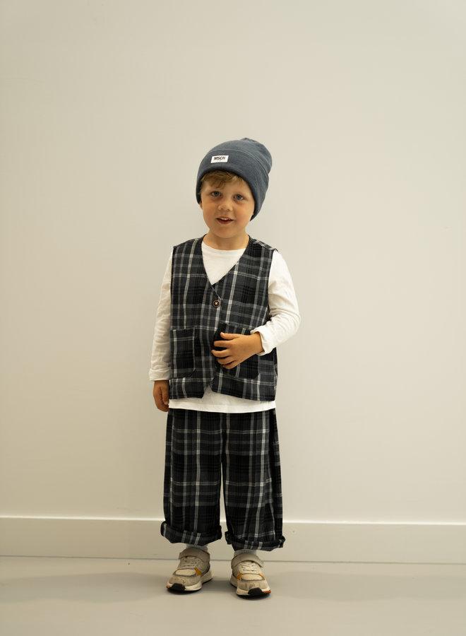 Little Occasion 2-Piece Plaided Vest + Trousers