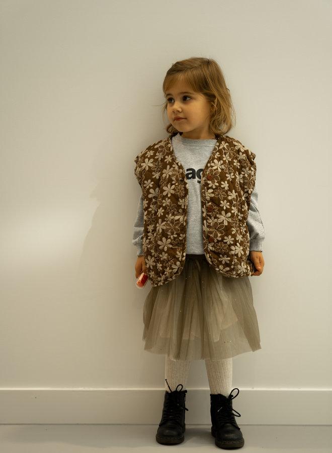Little Occasion Pleated Mesh Skirt