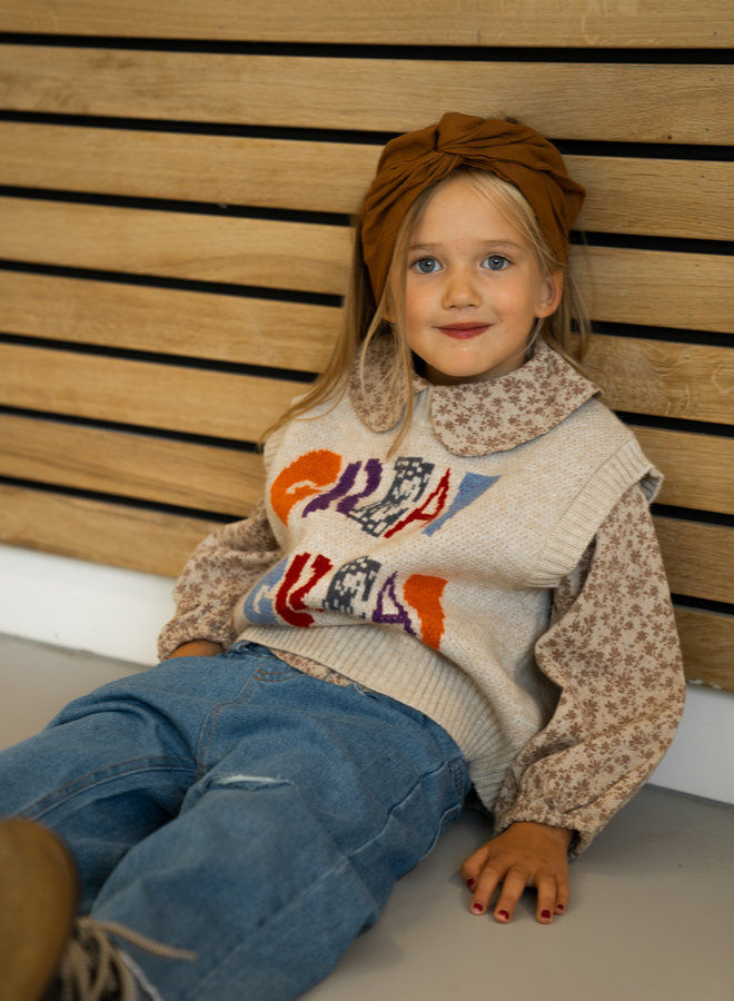 Little Occasion Knitted Colorful Spencer