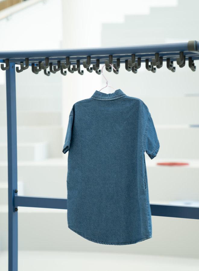 Little Occasion Loose Denim Shirt Dress