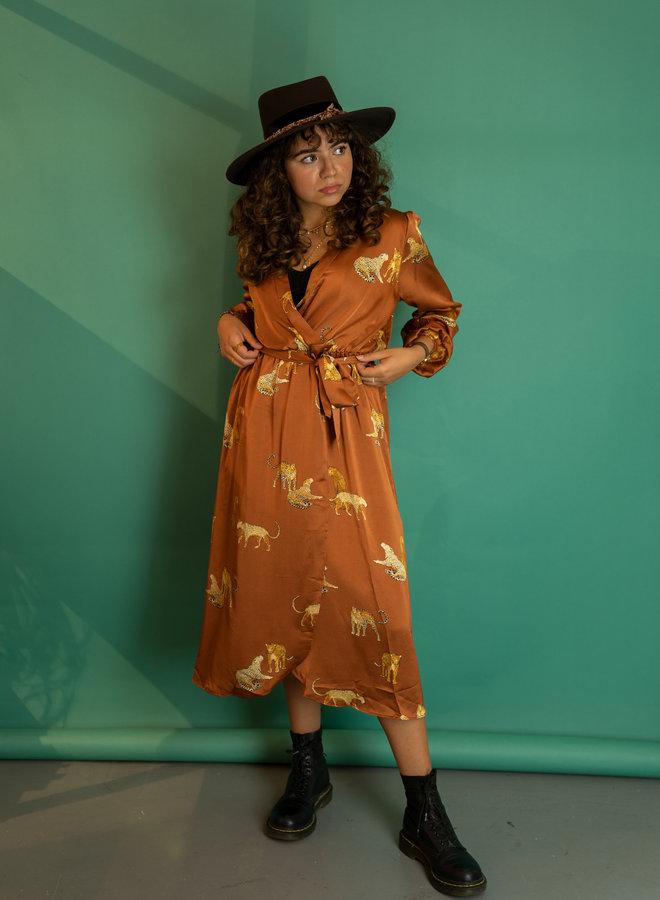 Make My Day Leopard Wrap Dress
