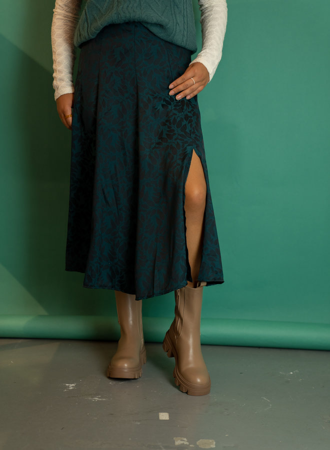 Make My Day Leaves Midi Skirt