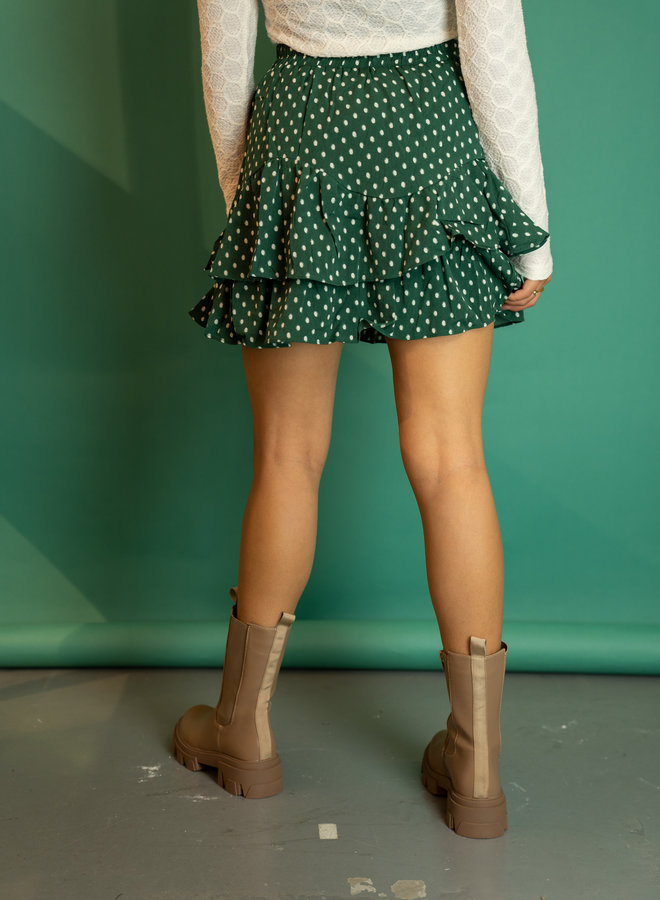 Make My Day Dotted Mini Skirt