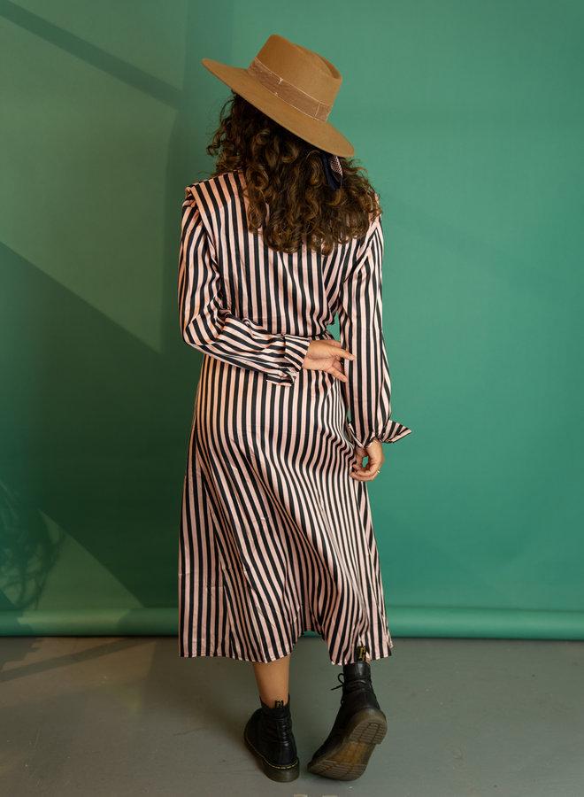 Make My Day Striped Shirt Dress