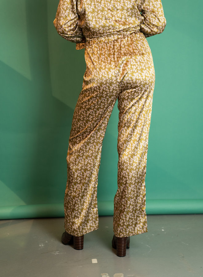 Make My Day Silky Flower Trousers