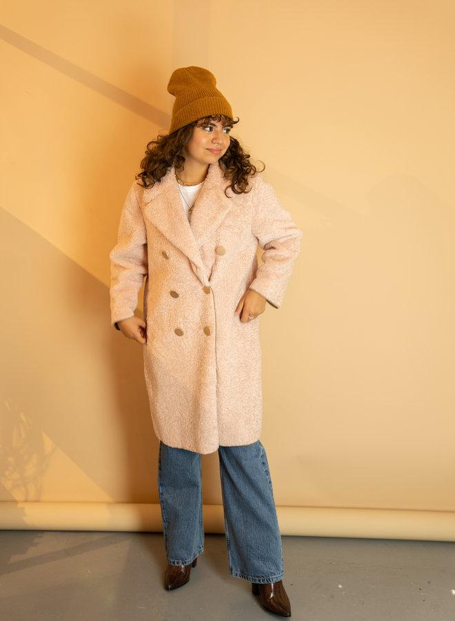 Make My Day Long Teddy Coat