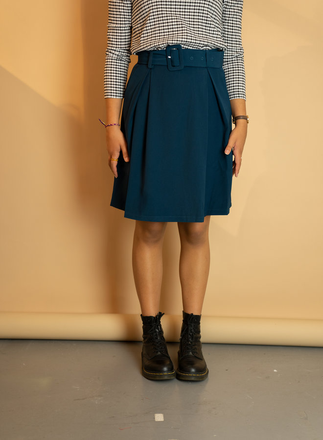 Make My Day Belted Mini Skirt