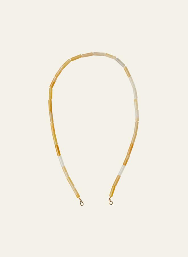 Xzota Yellow String Jade Necklace