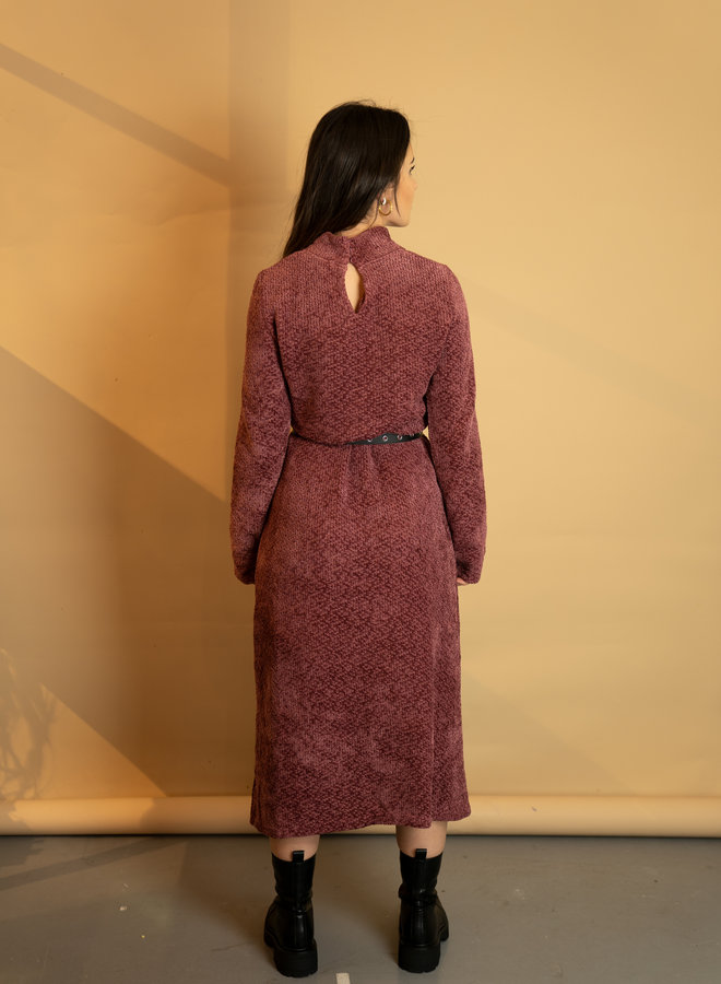 Make My Day Cosy Maxi Dress With Turtleneck