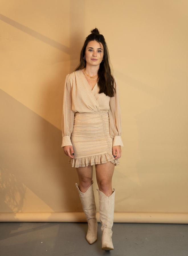 Make My Day Ruche Mini Dress