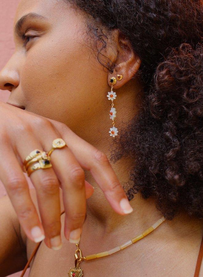Xzota Daisy Earring Gold Plated