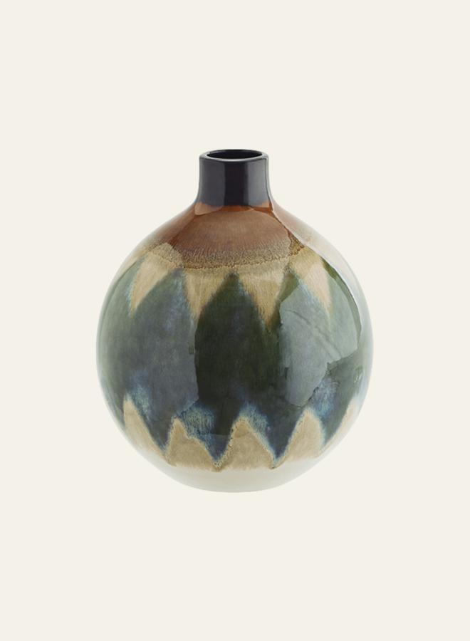Madam Stoltz Round Stoneware Vase