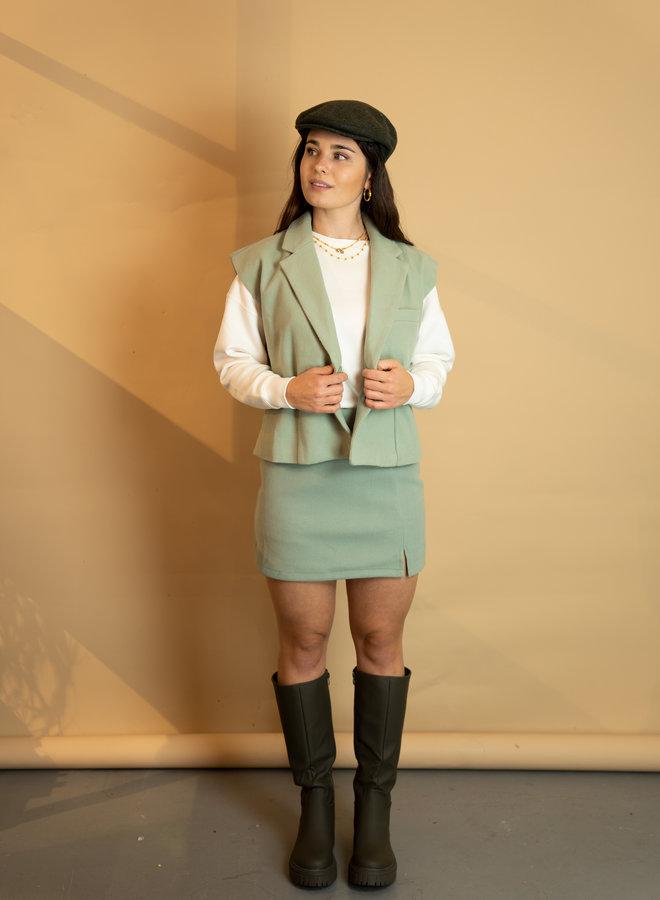 Make My Day Wool Set Mini Skirt