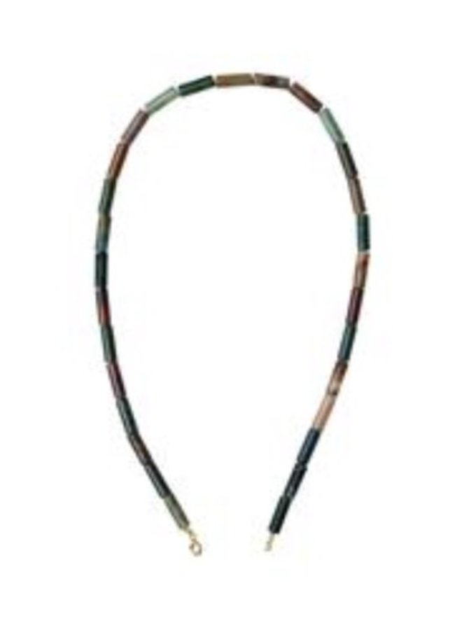 Xzota Agate Moss String Necklace