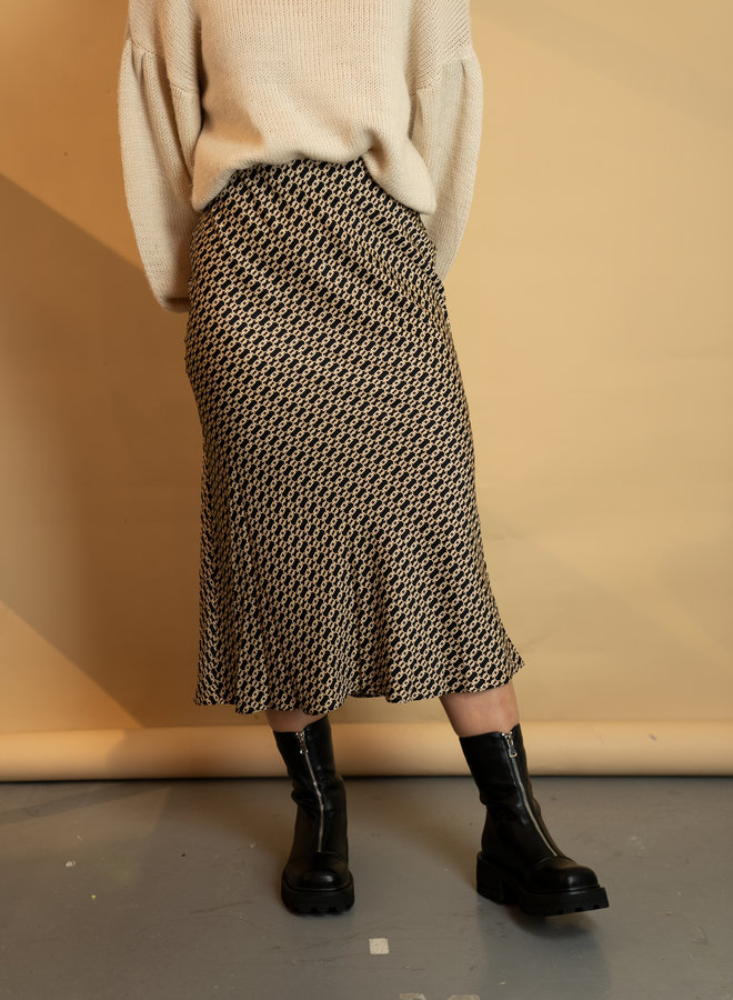 Make My Day Satin Midi Skirt