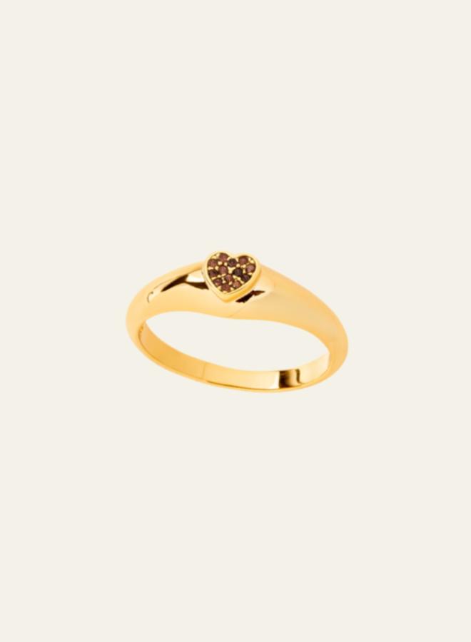 Aleyolé Smoky Crush Ring Gold