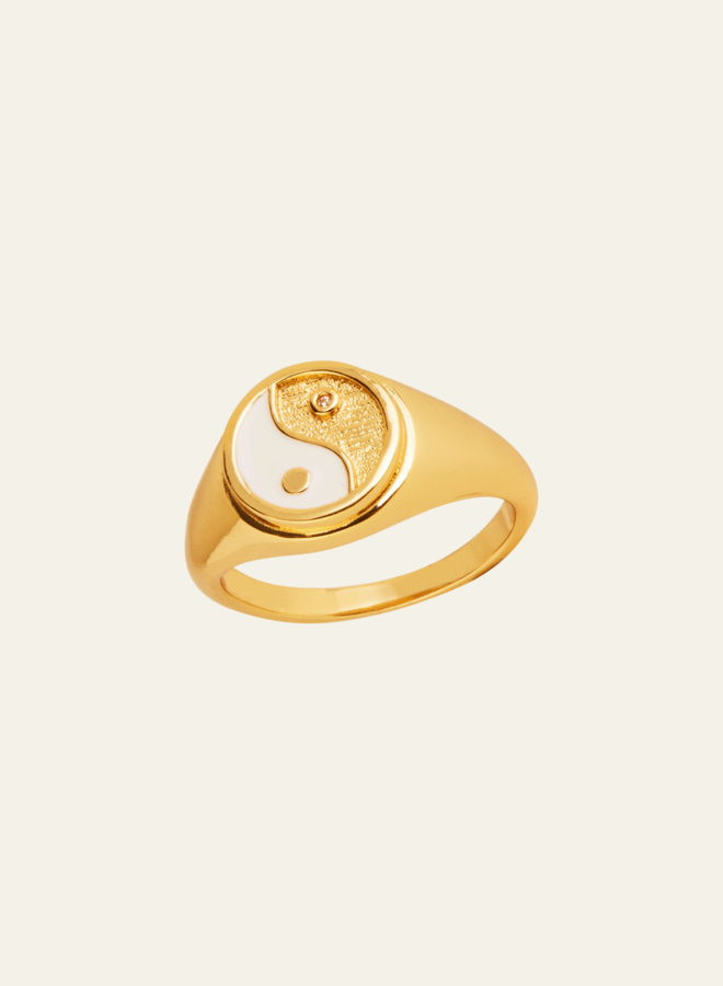 Aleyolé Yin Yang Ring Gold