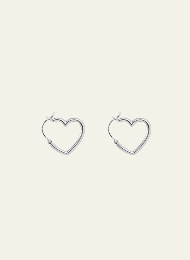 Xzota Heart Hoop Earring