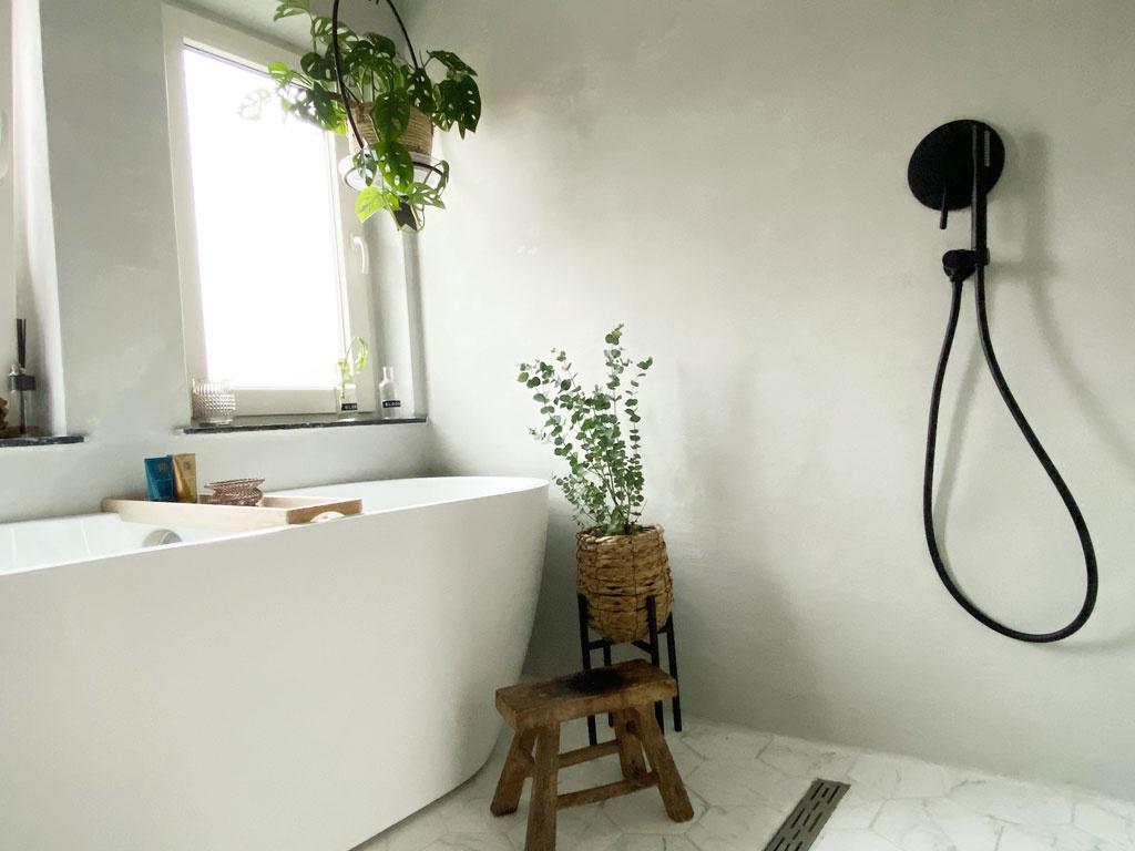 Inspiratie voor een beton ciré badkamer