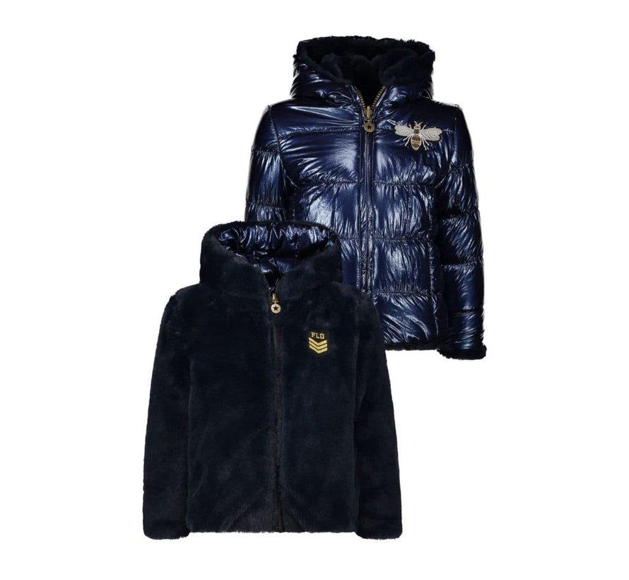 Like Flo omkeerbare blauwe jas