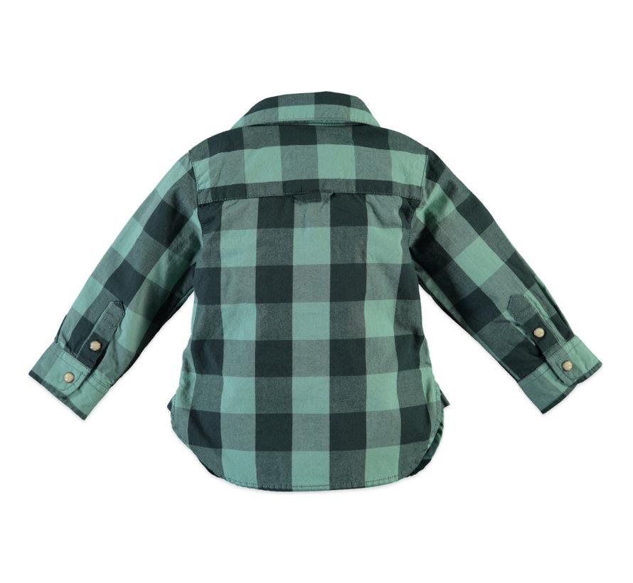 Babyface groen geruit hemd