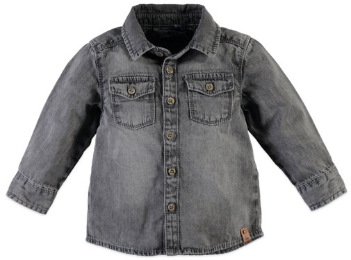 Babyface Babyface grijze jeans hemd