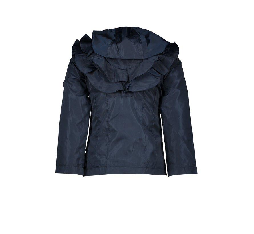 Le chic blauwe zomer jas