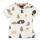 Babyface Babyface wit t-shirt met aop