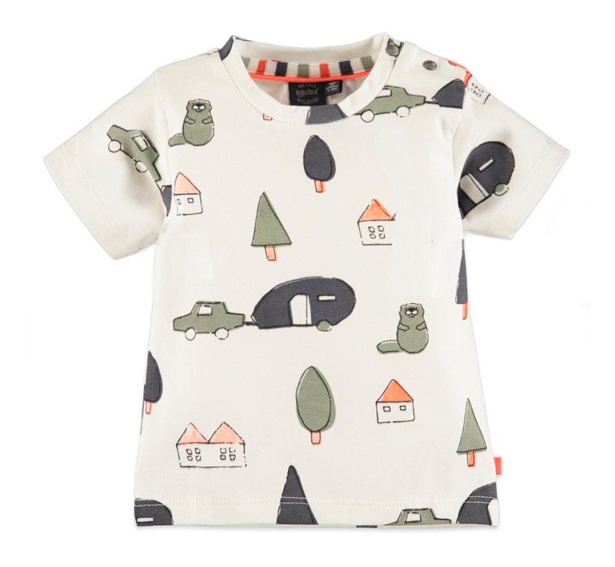 Babyface wit t-shirt met aop
