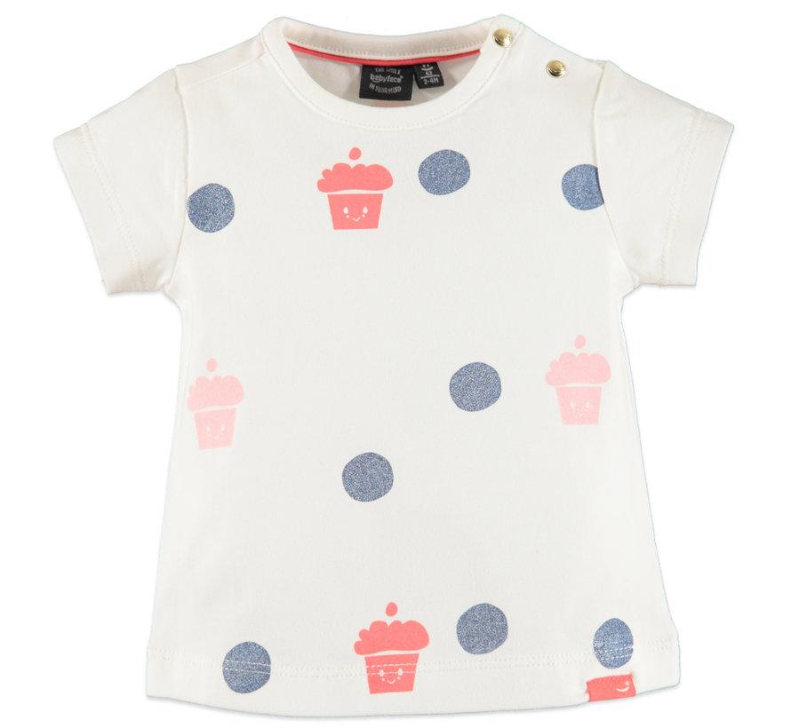 Babyface wit t-shirt met print