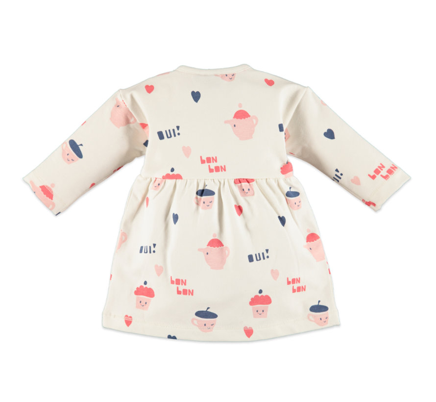 Babyface vrolijke witte jurk